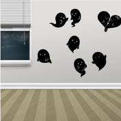 Best-topshop Cute Ghost Wall Stickers, 22.44 x 13.78 inches / 57 x 35 cm, Halloween Party Removable DIY Decoration for Home Room Door Window