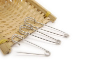 10PCS Clothing Safety Pins-Stainless Steel Large Metal Bent Needle Brooch Pins Breastpin Shawl/Sweater Buckle for Blankets Crafts Knitted Fabric Skirts