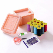 Sewing Kit, Sew Supplier Set with Threads, Needles, Scissors, Tape Measure, Carrying Case-Mini Travel Sewing Kit for Beginners, Kids, Adults, Best for Emergency, Home and Travelling