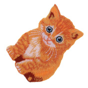 MagiDeal Cute Cat Appliue Embroidery Patches Animal Patch for Clothing Garment Decoration