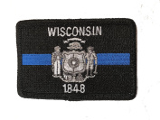 Subdued Thin Blue Line Wisconsin State Flag Patch