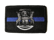 Subdued Thin Blue Line Michigan State Flag Patch