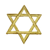 Gold Star of David Jewish Applique Patch