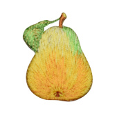 Pear Patch Applique (Iron on)