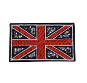 British Flag (Union Jack) with Crushed Crystals Patch Applique