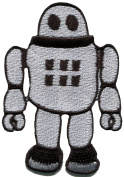 2 inche x 7.6cm Robot Vintage Retro Classic Toy DIY Applique Embroidered Sew Iron on Patch
