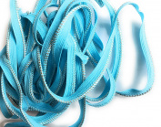 Turquoise / Silver Weave Cord edge, lip cord ,Trim for Clothing Pillows, Lamps, Draperies 5 yards