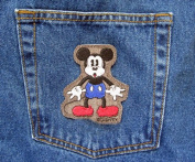 Vintage Disney Mickey Mouse Classic Pose Haunted House Iron On Novelty Patch