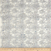 Sequin Lace Silver Fabric By The Yard