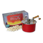 Wabash Valley Farms Whirley Pop Colour Changing Popcorn Popper with1 Real Theatre Popping Kit