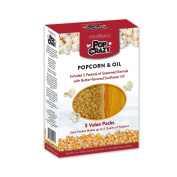 Pop Crazy PC10518 West Bend Popcorn & Oil, Multicolor