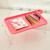Plastic desk with multi - purpose folding table , Pink , 44.5*29*19cm
