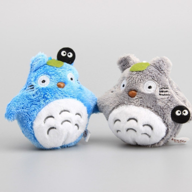 """My Neighbour Totoro with Fairy Dust Cute Plush Keychain Toy Dolls 4"""" 10 CM 2PCS"""