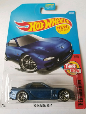 Hot Wheels 2017 Then and Now '95 Mazda RX-7 336/365, Blue