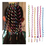 Lalang Ladies Girls Hair Spiral Spin Flexible Wire Spiral Hair Twist Wraps