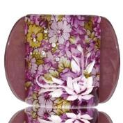 Lucia Purple Flower Print Medium Hair Clip Clamp