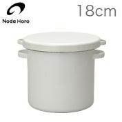 Noda enamel white series round stocker 18cm WRS-18 JAN
