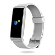 MyKronoz Zefit4-White Fitness Activity Tracker with Colour Touchscreen & smart notifications - White, silver