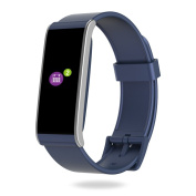MyKronoz Zefit4HR-Blue 4 HR Fitness Activity & Heart Rate Tracker with Colour Touchscreen & smart notifications - Blue, silver
