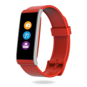 MyKronoz Zefit4HR-Red 4 HR Fitness Activity & Heart Rate Tracker with Colour Touchscreen & smart notifications - Red, silver