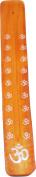 Om Symbol Painted Canoe Incense Burner [Orange - 25cm ]