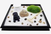 Feng Shui 24cm x 24cm Tabletop Lion Fu Dog Zen Garden Sand Rock Rack Incense Burner Gift & Home Decor (KT00033)~ We Pay Your Sales Tax