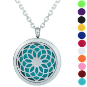 Top Quality Essential Oil Diffuser Necklace Aromatherapy Diffuser Locket Pendant Set with 11 Colour Refill Pads and Hypoallergenic Stainless Steel