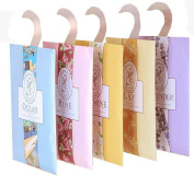 8pcs Scented Sachets with Hanger suitable for Room, Wardrobe, Bathrooms, Cars -6 Kinds of Fragrance