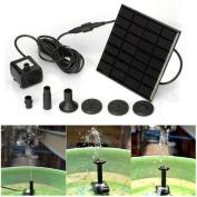 YRD TECH Solar Water Panel Power Fountain Pump Kit Pool Garden Pond Watering Submersible