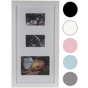 Precious Prints Double Baby Ultrasound Scan & Photo Picture Frame - Available in a range of Colours
