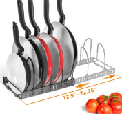 BTH NEW Expandable Kitchen Pan Pot and Lid Organiser Rack Holder