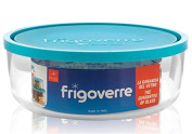 Bormioli Rocco Frigoverre Classic Glass 2600ml Round Container with Teal Lid