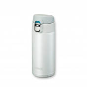 Tiger MMJ-A036 WW Vacuum Insulated Stainless Steel Travel Mug with Flip Open Lid, Double Wall, 350ml, White