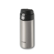 Tiger MMJ-A036 XC Vacuum Insulated Stainless Steel Travel Mug with Flip Open Lid, Double Wall, 350ml, Silver