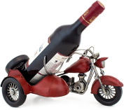 """BRUBAKER Wine Bottle Holder """"Vintage Motorcycle with Sidecar"""" Hand-Painted Metal Sculptures and Figurines Decor Wine Racks and Stands Gifts Decoration"""