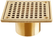 Jones Stephens D6094PB 10cm Polished Brass Lacquer Coat Square Spud Strainer