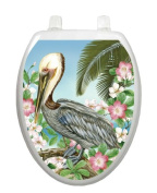 Pelican Toilet Tattoo TT-1093-O Elongated Lake Pond Summertime Seat Decal Florida