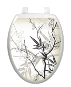 Cherry Blossoms Toilet Tattoo TT-1084-O Elongated Spring Theme Cover Bathroom