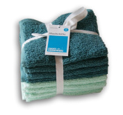 Room Essentials Washcloth Bundle - Turquoise Variety - 8 Ct