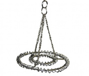 Small 2-Ring Round Chandelier Frame - Chrome Finish