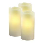 3 Flameless LED Wax Candle