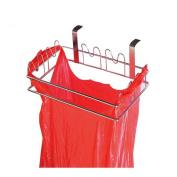 Stainless Steel Kitchen Garbage Bags Hanging Hook, Cabinet Hanger Back Door Trash Bag Organiser Holders, Cupboard Garbage Bags Hanging Holders Rack, Shelf Storage Hook Stand