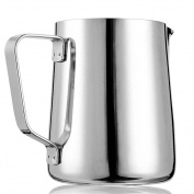 GooGou Stainless Steel Milk Frothing Pitcher with Measurement Inside for Latte Art Espresso Machine Coffee Milk Frother Latte Maker 12oz/350ml