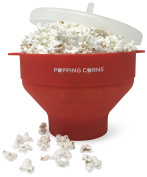 Popping Corns Microwave Popcorn Popper, Silicone Popcorn Maker, Collapsible Bowl, BPA Free, PVC Free