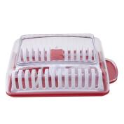 HS Microwave Potato Chip Maker Slicer Cooker Red