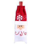 Wine Bottle Cover,Home Party Santa Claus Christmas Party Cloth Wine Bottle Cover By Dacawin