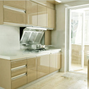 YIZUN Gloss PVC Self Adhesive Kitchen Unit Cupboard Door Cover Shelf Liner Paper,60cm x 250cm ,Champagne
