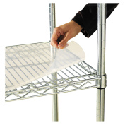 ALERA ALESW59SL3618 Shelf Liners For Wire Shelving, 36w x 18d, Clear Plastic, 4/Pack