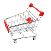 Mini Creative Multi-function Shopping Cart Model Play House Storage-Red