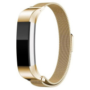 YRD TECH Fitbit Alta, Milanese Magnetic Loop Stainless Steel Smart Watch Band + Connector For Fitbit Alta,Blue,Brown ,Gold
